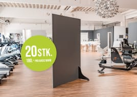 DIVIDERwall Basic – Divider to keep distance in public areas | Made in Germany! | min 20Stk. = 180€ each