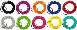 keyfix Schlüsselarmbänder - Spiralarmbänder für Garderoben- und Spind-Schlüssel
