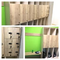 Cabinets and furniture for fitness studios and weight rooms