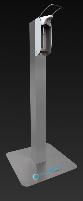 Hygiene-Tower mit Handhebelspender aus Edelstahl