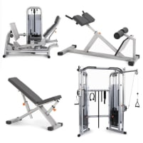 KGG-Set 4 Geräte - Kraftstation, Beinpresse, Schrägbank, Hyperextension Bank