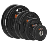 4-grip rubberized weight plates 50 mm - 1.25 kg to 25 kg