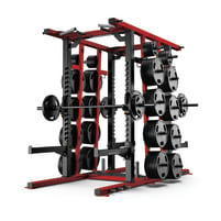 Matrix Fitness | Magnum Serie | Mega Double Half Rack (MG-MR691) | Sonderfarbe Traffic Red | 2017