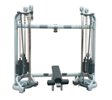 Technogym Radiant Functional Trainer adjustable cablecross crossover with integrated cable station with weight bench