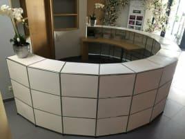 USM Haller reception desk
