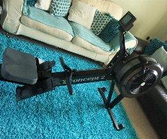 Rudergerät Concept 2 Modell D Indoor Rower mit PM5 Monitor Schwarz