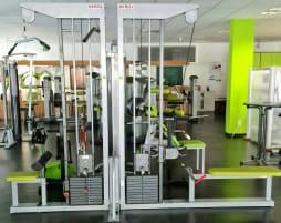 2 Stationen Turm Rudern/Latzug Firma Schnell