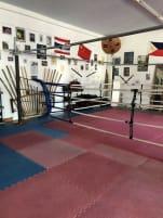 Boxring, vier Seile mit Eckpolster