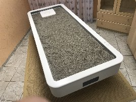 44° warm quartz sand - MLX Quarz Round sand bed / treatment bed / massage couch / therapy couch