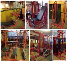 Gerätepark-Trainingsmaschinen / Dr.Wolff-Bänke / diverse Bänke / Kurzhantelsatz / Scheiben