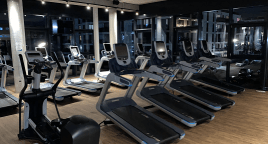 Provision für Vermittlung Fitnessstudio Cardiogeräte Kraftgeräte Life TechnoGym Precor Matrix Fitness