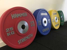 Hammer Strength Bumper Plates 140kg - Hantelscheiben;Gewichte 50mm Urethane