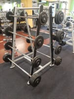 Dumbbell set with rack for 8 dumbbells