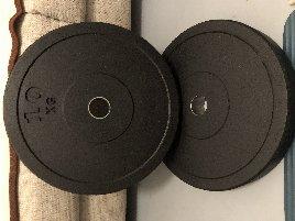 100 kg Bumper Plates 50 mm Hantelscheiben