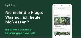 Personalisiertes Ernährungscoaching für 12 Monate auf upfit.de
