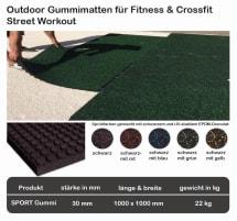 Outdoor Bodenschutzmatten, Fitness, Crossfitness , Street Work