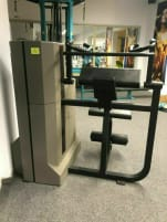 Electronic triceps machine (eccentrically heavier)