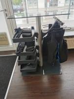 4 x Miha Bodytec Geräte Generation 2  + Zubehör ( Westen / Gurte / Tische )