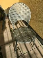 6 hochwertige feuerverzinke Bistro-/Gartenstühle zu je 80 Euro
