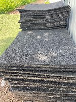 Elastischer Gummiboden Fließen 1m x 1m
