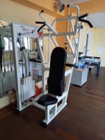 Lat pulley / triceps combination device