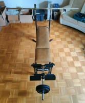 Kettler flat bench incl. 90 kg weights