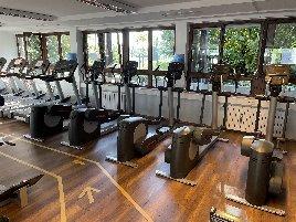 HBP und Life Fitness Gerätepark - 41 Geräte, Maschinen, Bänke, Laufbänder, Crosstrainer, Mobilitätszirkel