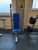 used bench with shelf for shoulder exercises