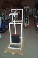 Calf Machine, standing, white, with 240kg weight stacks, used